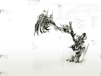 walking metallic dragon by iuneWind
