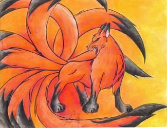 Nine-tailed Fox by NarutoxFanclub