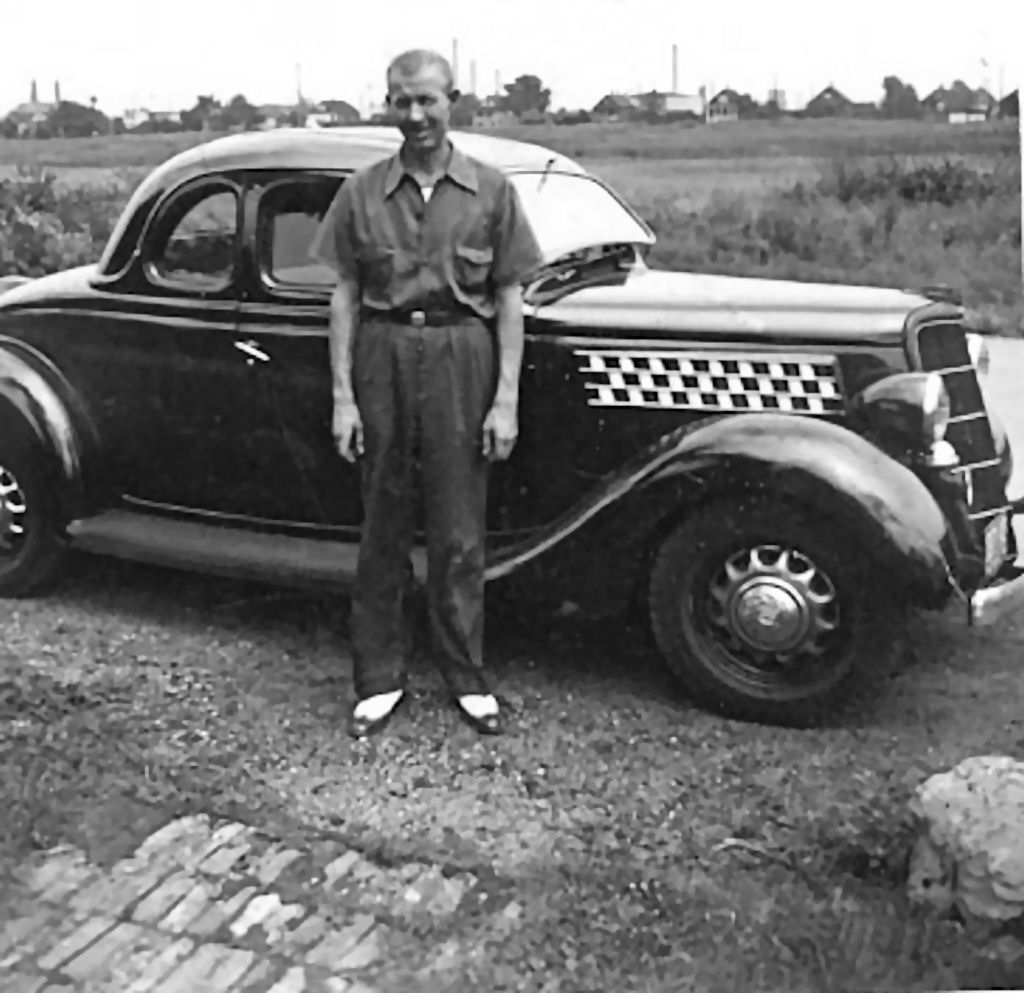 Vintage Man and Car