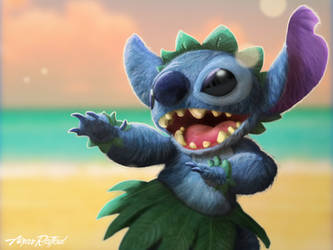 Stitch from lilo and stitch fanart by aizarraffoul