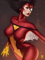 Spider Woman Fanart from my Youtube Video! by aizarraffoul