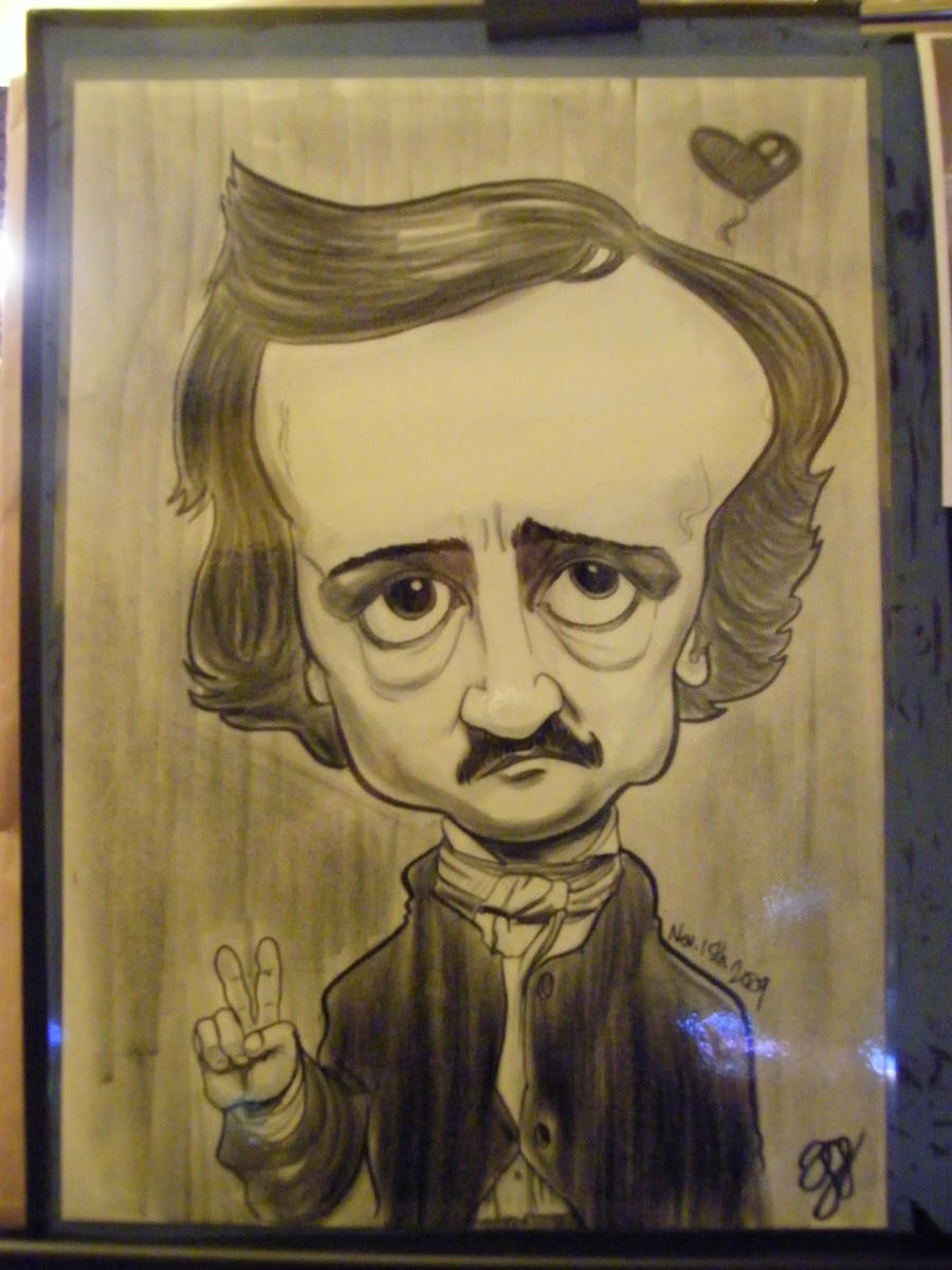 Caricature Edgar Allen Poe by Fyra