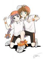 Sakura and Tomoyo by Hitokirisan