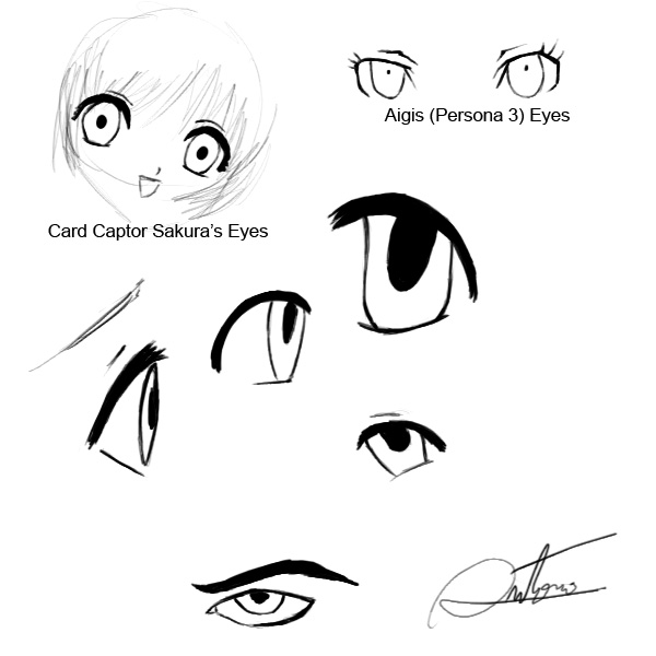 Anime Eyes Tutorial Mouse By Hitokirisan
