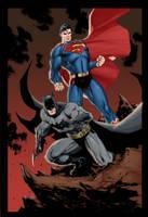 Batman and Superman by Hitokirisan