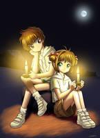 Sakura and Syaoran by Hitokirisan
