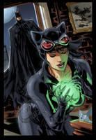 The Dark Knight catches the Cat Burglar by Hitokirisan