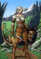Ciri - The Witcher by Hitokirisan