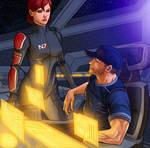 Mass Effect - Shepard and Joker