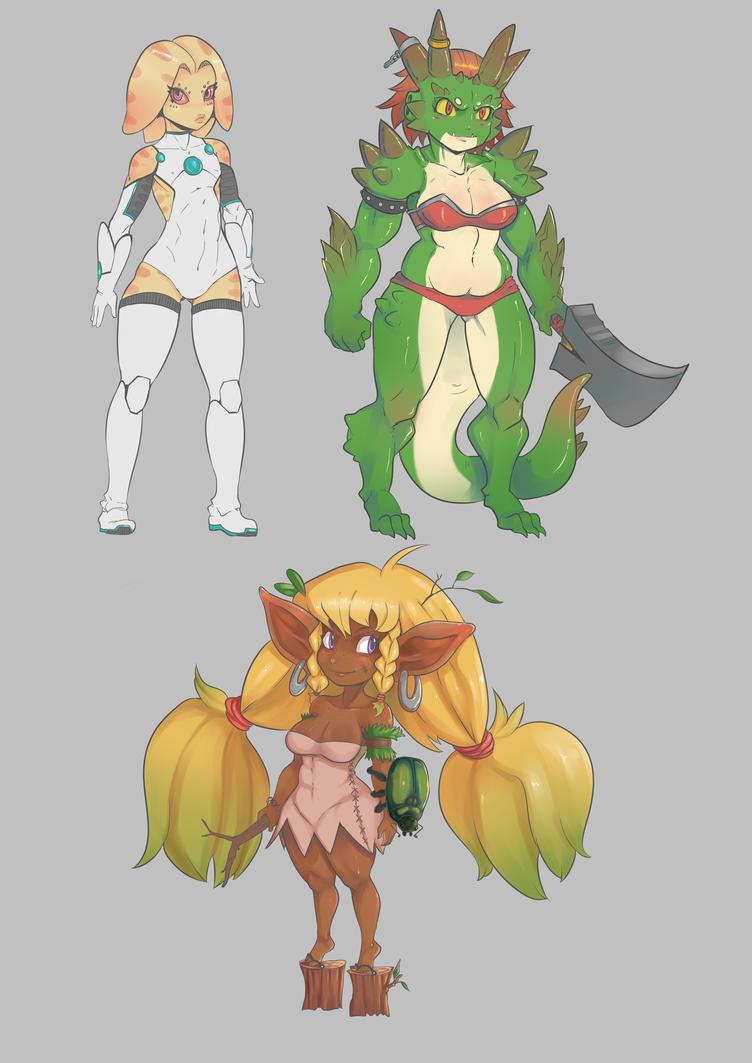 Character designs by Nerdbayne