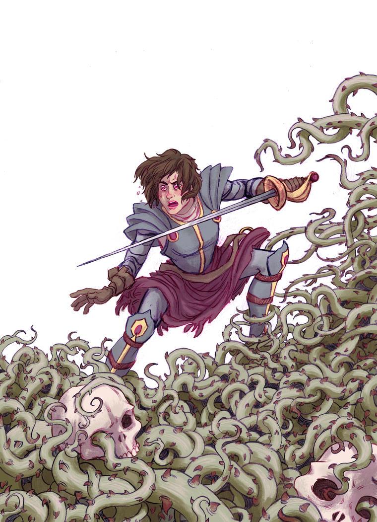 Valor Rewards Poster - Lady Knight by Rosengeist