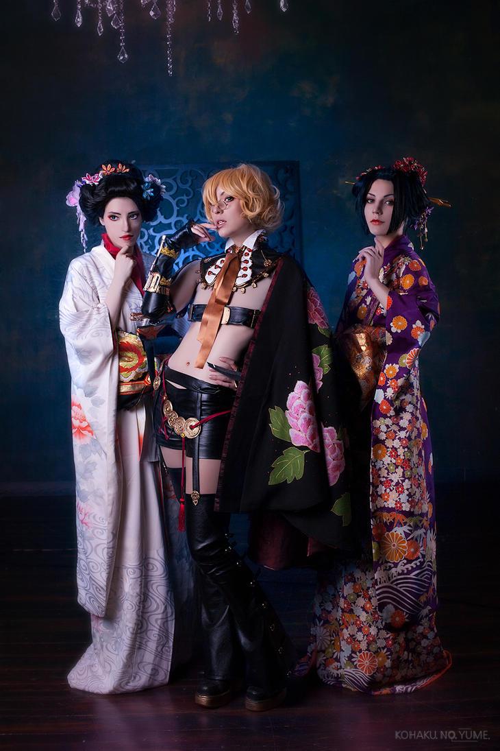 Anri Yoshiwara and oirans by kohakunoyume