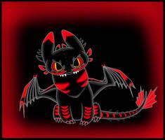 Night Fury cute (Inferno) by DragonInfernoArt