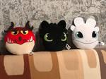 Plush toy muzzles by DragonInfernoArt