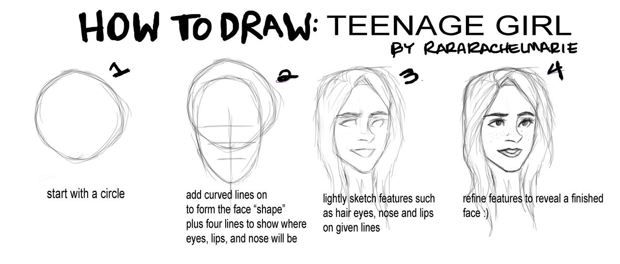 Tutorial girls face by rararachelmarie