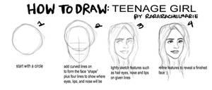 Tutorial: Girls Face by rararachelmarie