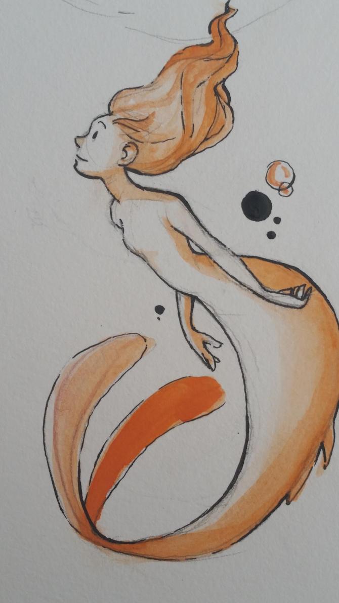 Watercolor Mermaid by rararachelmarie