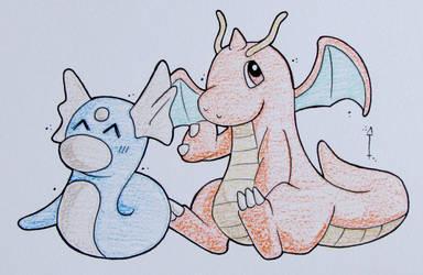 Dratini + Dragonite