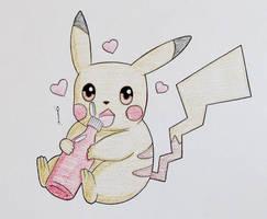 Pikachu + Ketchup by Hurek