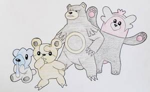 Pokemon Bears by Hurek