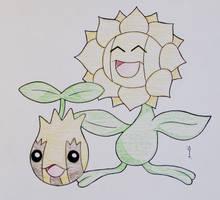 Sunkern + Sunflora by Hurek