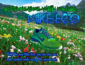 My Nike Eco Shoe Ad from Photoshop Class