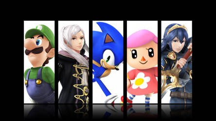 My Smash 4 Mains (Wallpaper)