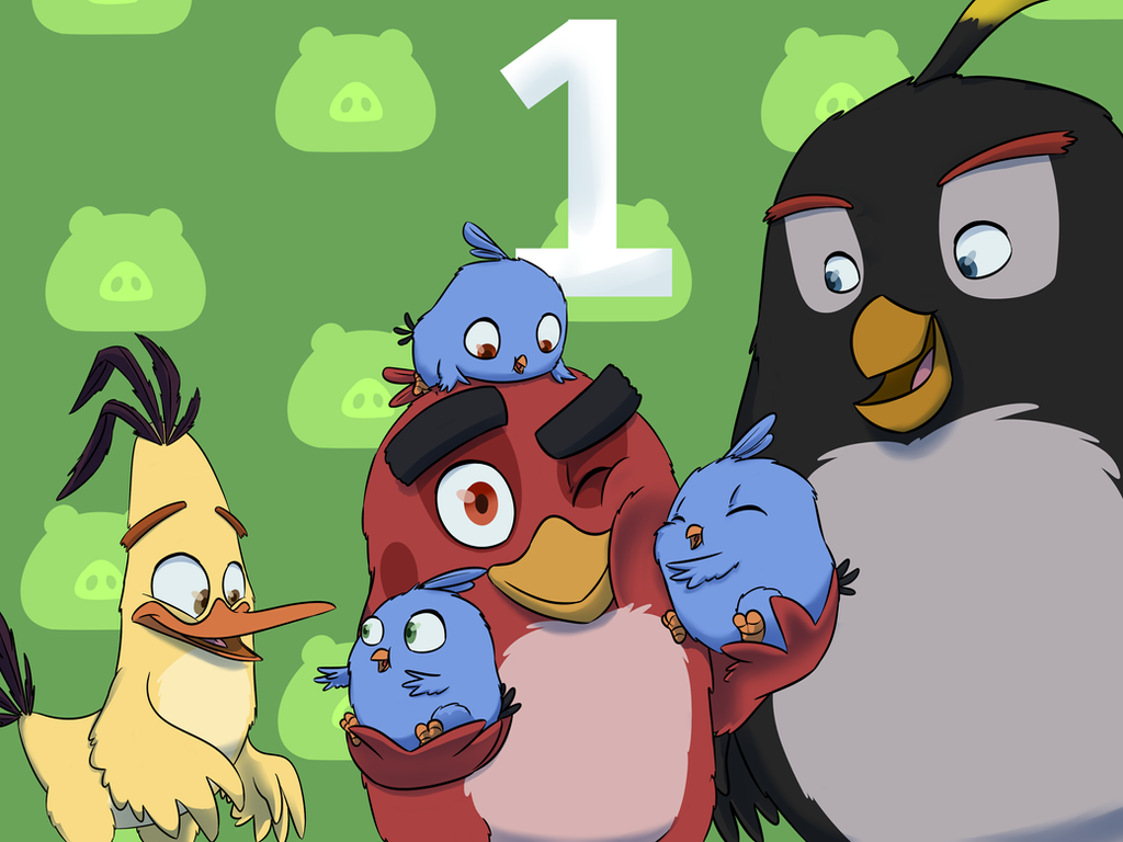 Angry Birds first anniversary by WinterPower98
