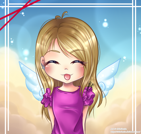 :Collab with Aikolein: Sweet little Angel Aikolein by Chierue