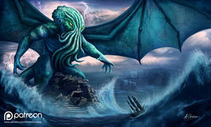 Cthulhu (The Call of Cthulhu by H.P Lovecraft by AnthonyChristou