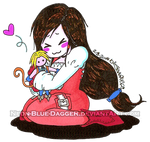 Dagger loves her plushie!