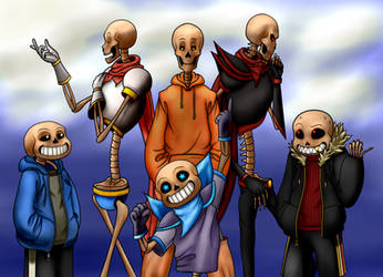 Bone Bros in Every Universe by AuthorOfSins