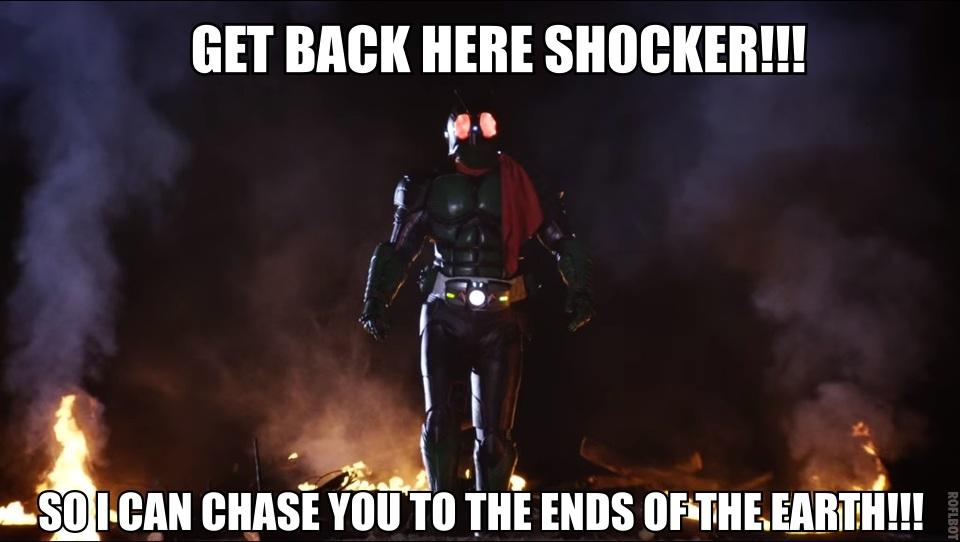 You can't escape a Kamen Rider by stickinaroundforever