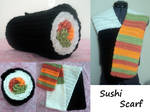 Crocheted Sushi Scarf