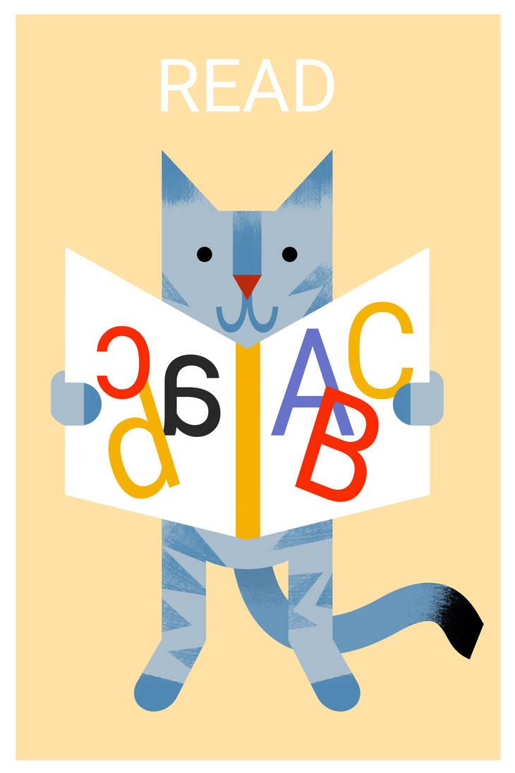 Cat Read by Rakun94