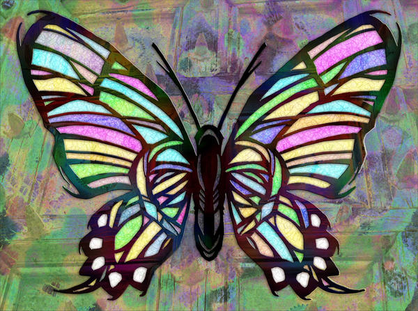 Stained glass butterfly by kaz el25 on deviantart for Butterfly stained glass craft