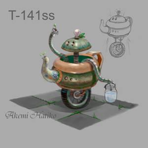 Robot-teapot concept art