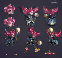 mahou shoujo chibi girl concept art