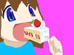 NOM NOM CAKE by SillyCookieSonic123