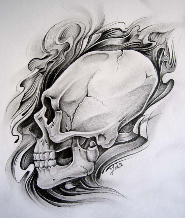 scull 2 by zolatattoo