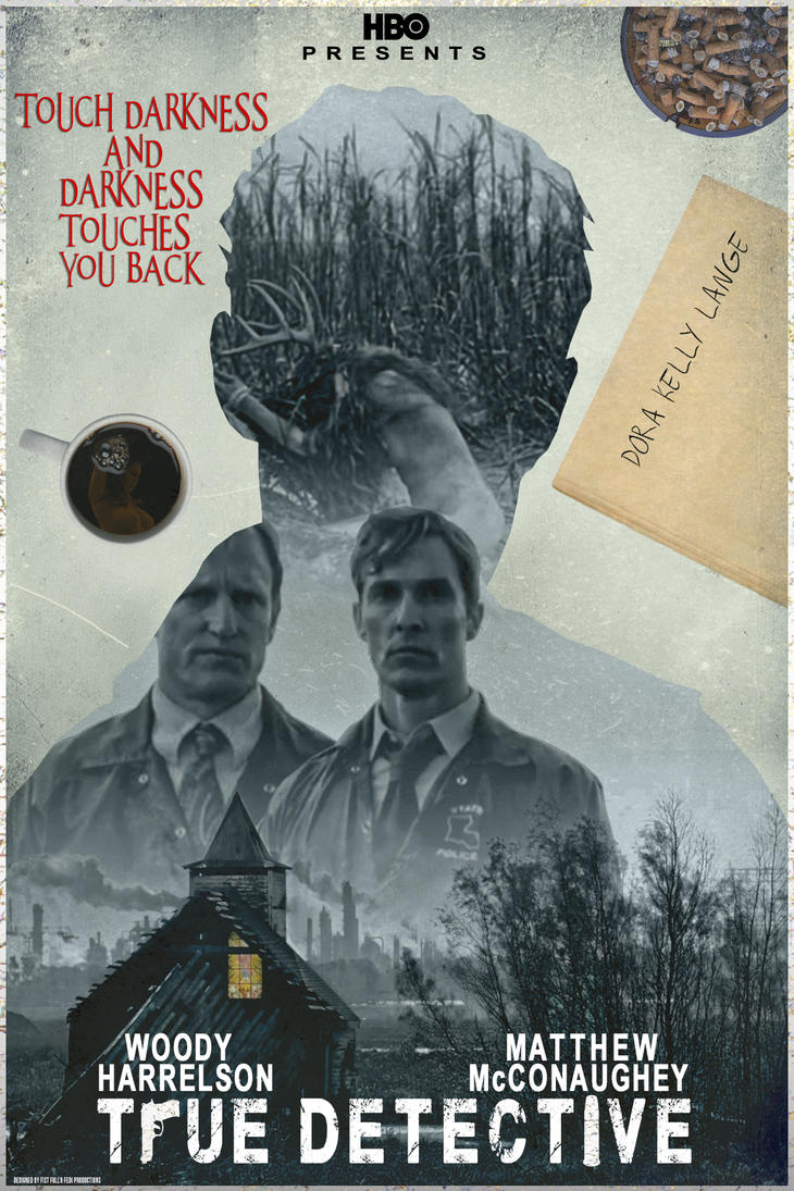 Sample poster of hbo s true detective by estwood on deviantart