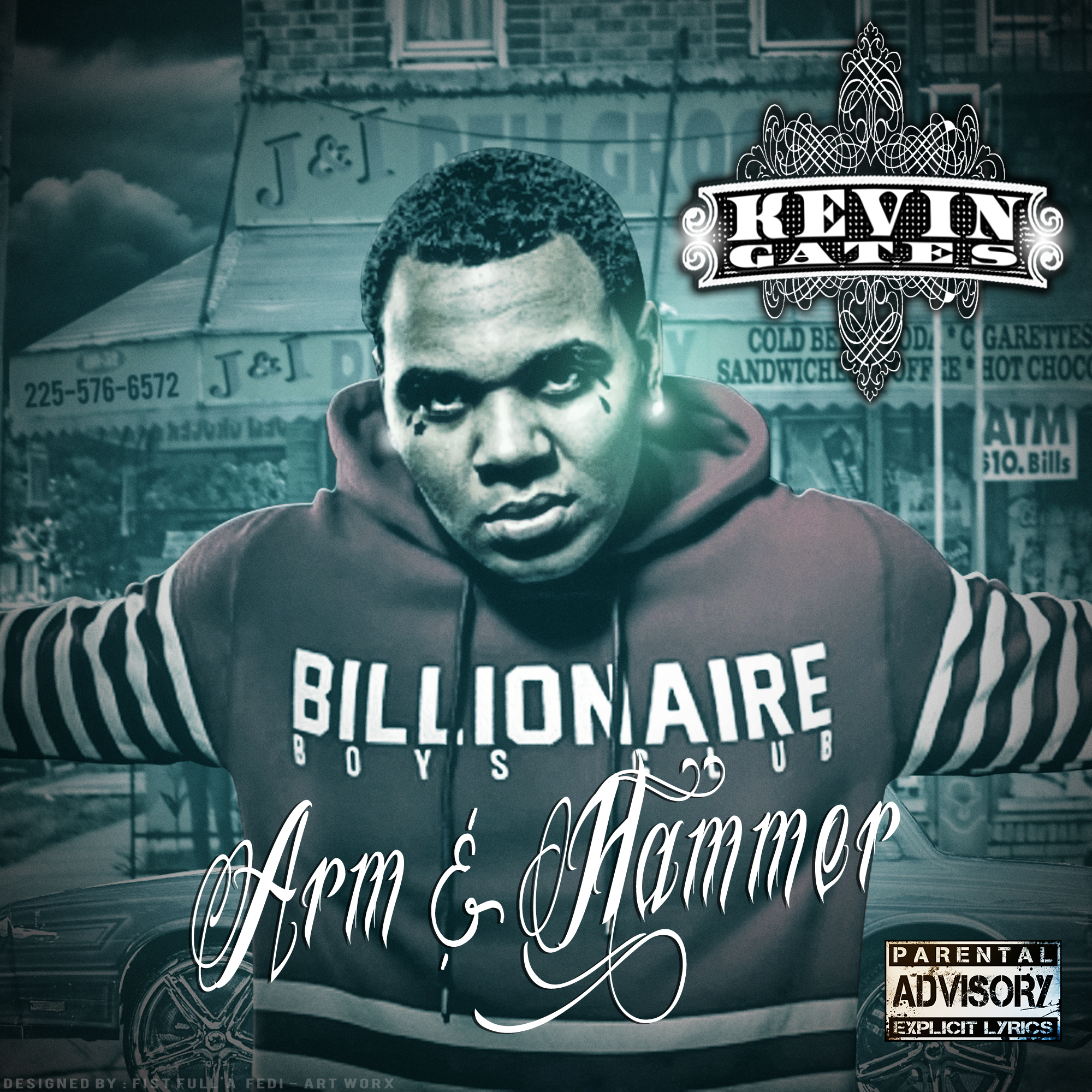 Kevin Gates Wallpaper: KEVIN GATES (ARM AND HAMMER CD FRONT COVER) By EstWood On