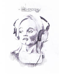 Big headset - Sketch by knutroald