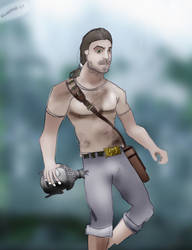 Male Tomb Raider by knutroald