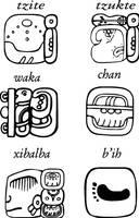 Mayan glyphs, tzite tzukte wakachan xibalba bi by FranckAsShanti