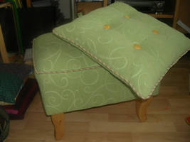 Footstool + matching pillow by Riibu