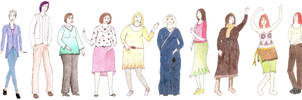 School - Dif. Body shapes by Riibu
