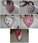 Small heart shaped bag