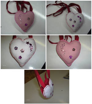 Small heart shaped bag