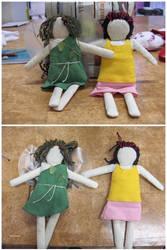 Spring Faerie Dolls by Riibu